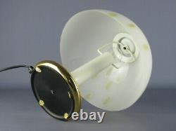 Vintage Table Lamp With Dome Glass Murano Submerged 1970