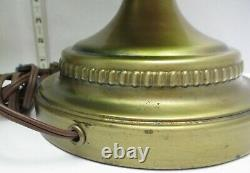 Vintage Table Lamps & Shades MID Century Modern Pair Green Murano Glass Lot Of 2