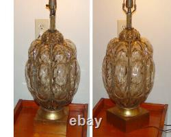Vintage Venetian Caged Glass Hand Blown Murano Table Lamp WORKS