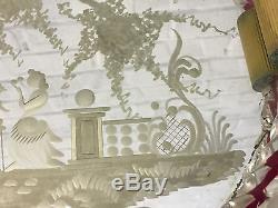 Vintage Venetian Murano Italian Art Glass Mirrored Dresser Tray Dolphin Handles