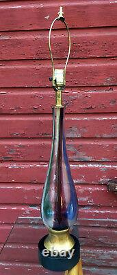 Vintage Venini Murano Glass Table Lamp Mid Century Modern Italian