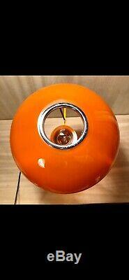 Vintage1980sHand Blown Murano GlassBlue/OrangeCupola LampCarlo Moretti