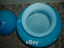 Vintagemurano Blue / White Caseddecanter10 1/2 By 7 In