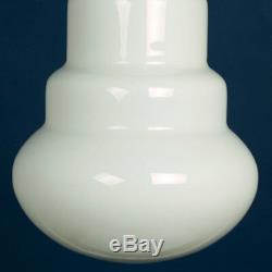 Vistosi Large Bulb-Shaped Opal Glass Pendant Lamp Murano Vintage 1970s