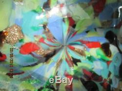 Vntg. Murano Tutti Frutti AVeM Mid-Century Art Glass Ashtray
