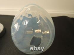 Vtg. CARLO NASON Opalescent Murano Glass Table Lamps c. 1960-70s