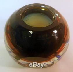 Vtg Flavio de Poli Italy SOMMERSO Murano Art Glass Vase Seguso Vetri d'arte