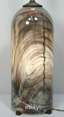 Vtg GLASSLIGHT STUDIO Signed Dome Glass Lamp. Modern Dome Swirl Glass. PA, USA