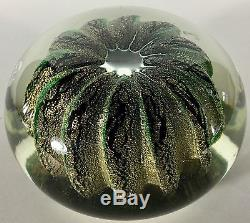 Vtg Hand Blown Murano Style Art Glass Cactus Paperweight Desktop Rare Green