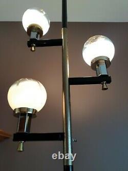 Vtg MCM Murano Glass 1960's Tension Pole Light/Lamp, Retro Modernist, WOW