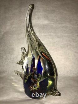 Vtg Murano Art Glass Fish Aquarium Coral Reef Sea Sculpture Beautiful 9