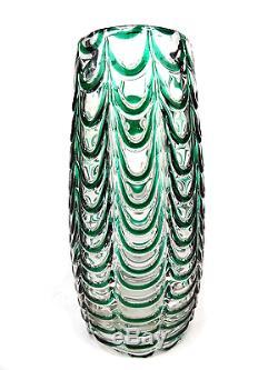 Vtg Murano Seguso Fenicio Glass Vase, Glas, Girlanden, Fratelli Toso Italy 1950s