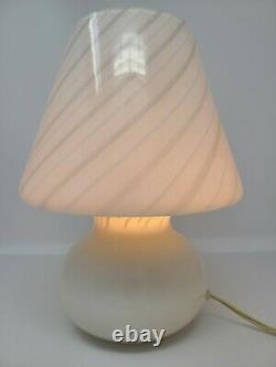 Vtg Murano Vetri Glass Mushroom Table Lamp Mid Century Modern MCM W Original Tag