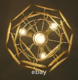 Yellow Vistosi glass disc chandelier, 24 discs, Murano vintage Italian design la